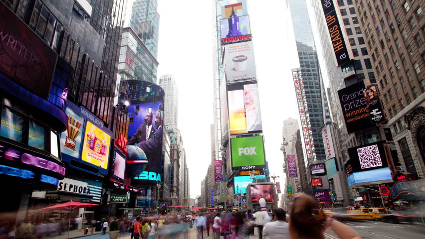 NEW YORK, NEW YORK - OCT 2011: timelapse in time square, new york, super high quality, 4k resolution (4096x2304). | Shutterstock HD Video #5452370