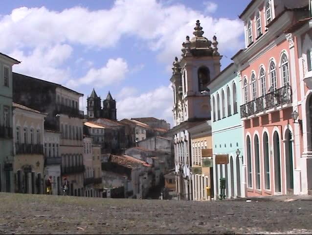 Streets landscape - Salvador, Bahia, BRAZIL (zoom out)   Shutterstock HD Video #5454083