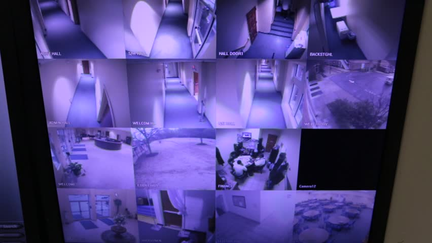 Screen Shot of Security Cameras Posted in a Church Building