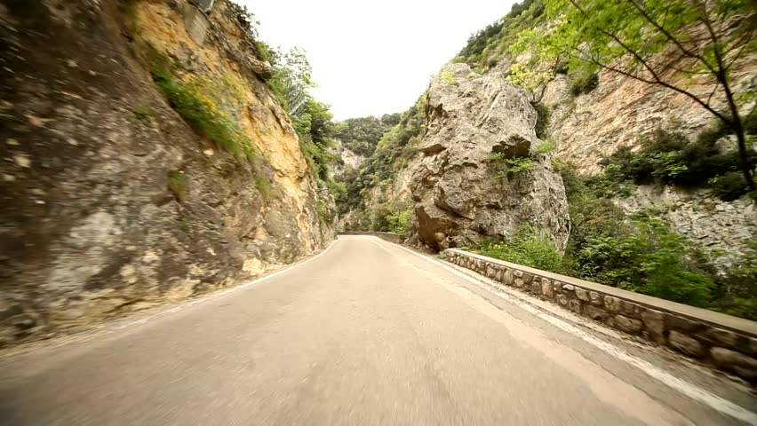 Video footage of the road SP 38 at the lake garda in italy, europa | Shutterstock HD Video #5478980