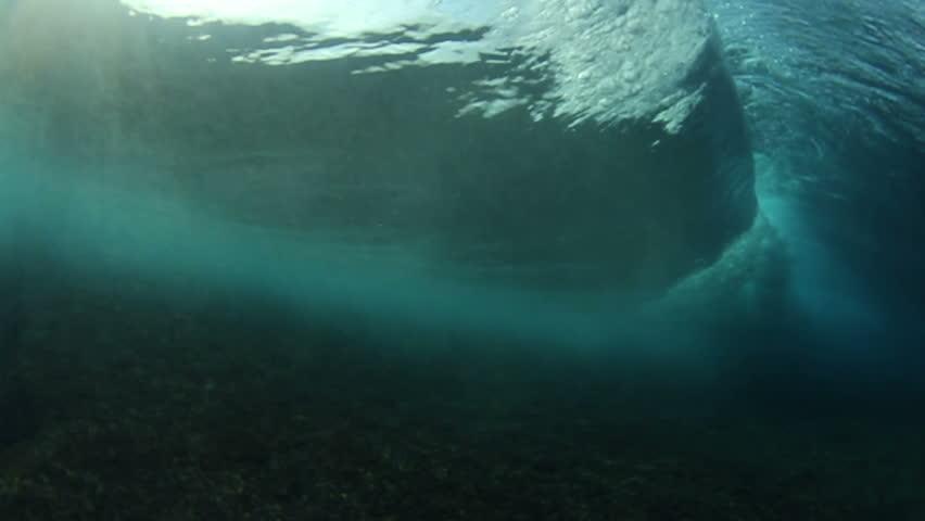 Underwater Ocean Wave Crashing