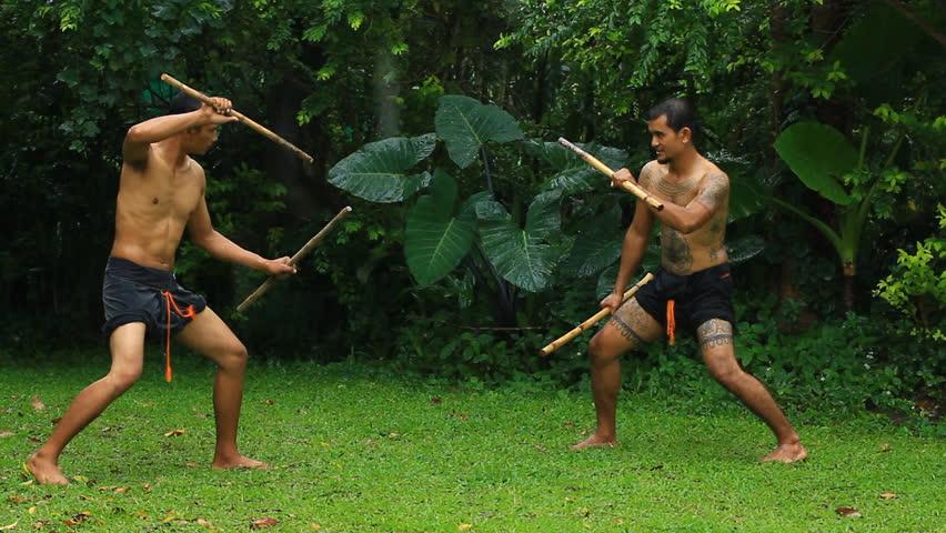 Daab Song Meu in traditional Thai martial art #5487311