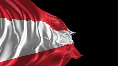 Flag of Austria Beautiful 3d animation of the Austria flag with alpha channel