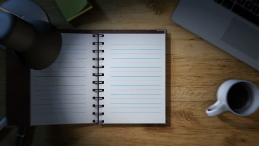 Work desk with notepad opening for notes high definition   Shutterstock HD Video #5498867
