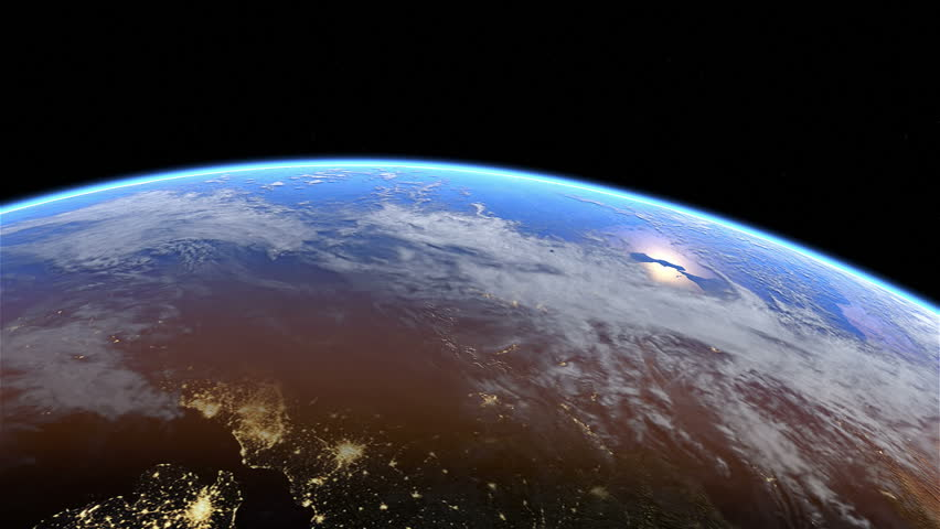 Europe at night. Extremely detailed image, including elements furnished by NASA. 3d animation with some light sources, reflections and post-processing. Earth maps courtesy of NASA  | Shutterstock HD Video #5499929