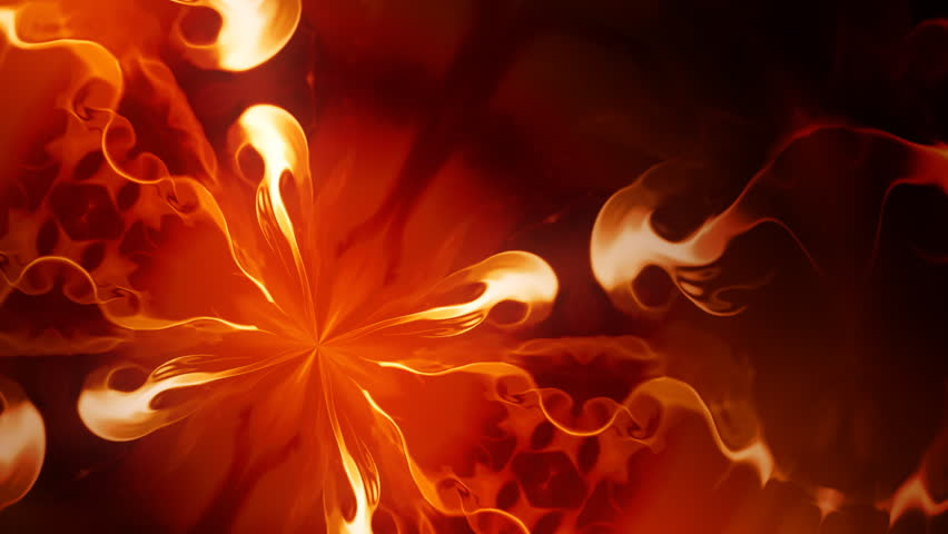 Abstract animated background with mirrored flames