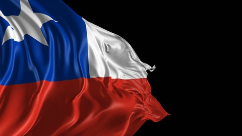 Flag of Chile Beautiful 3d animation of Chile flag with alpha channel