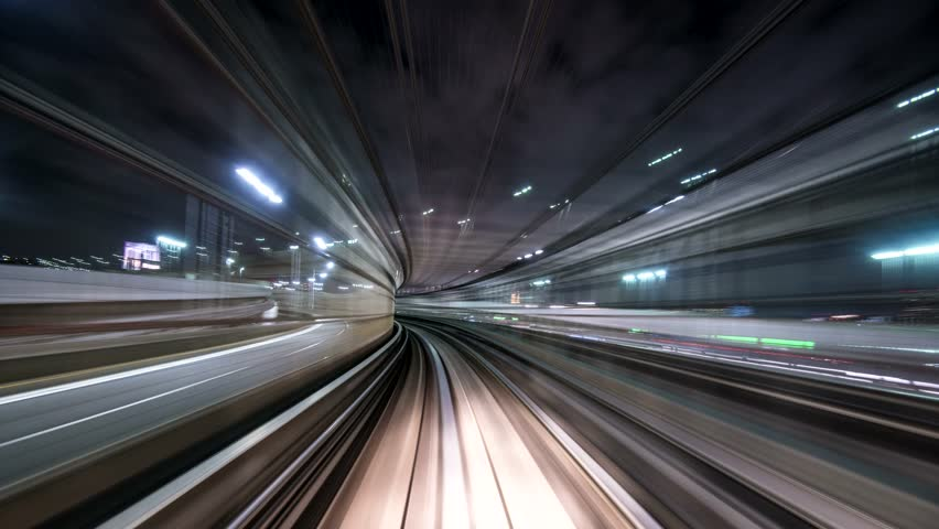 Tokyo, Japan viewed from the Yurikamome Transit System. | Shutterstock HD Video #5514977