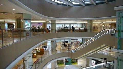 elevator in the shopping malls scene,modern city environment. gh2_02093