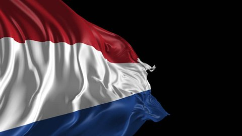 Flag of Netherlands Beautiful 3d animation of the Netherlands flag with alpha channel