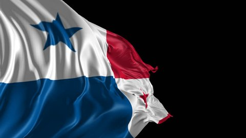Flag of Panama Beautiful 3d animation of Panama flag with alpha channel