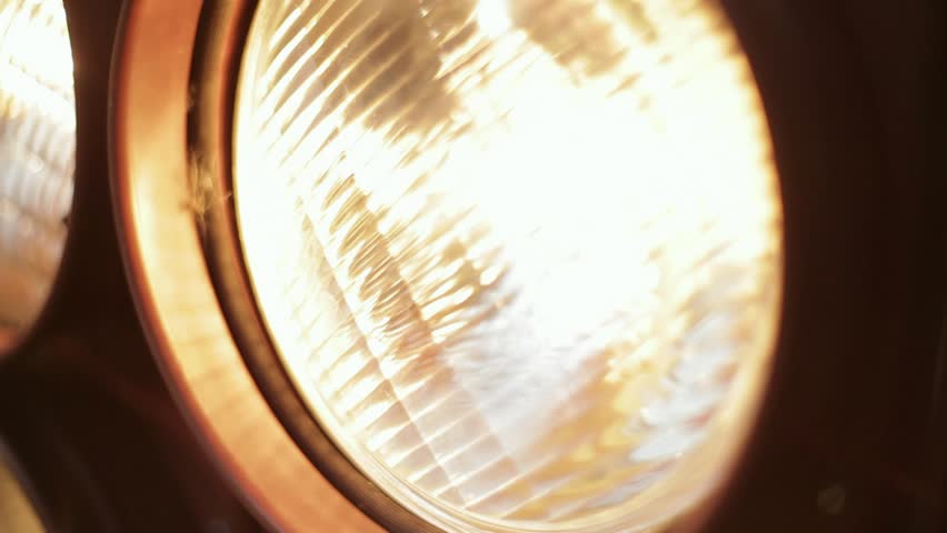 Flood light is turned on and off, close up #5550512
