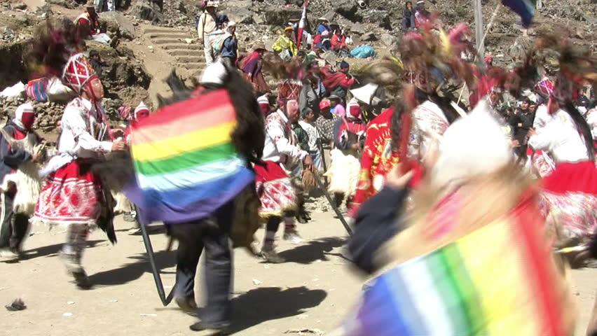 SINAKARA, PERU - JUNE 9, 2007: Quyllur Rit'I (Snow Star Festival), Sinakara, Peru | Shutterstock HD Video #5562362