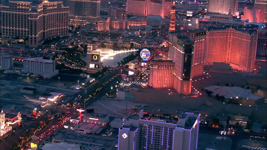 LAS VEGAS, USA - 1 January 2011 - Las Vegas Hotel Strip. Aerial footage of the Las Vegas strip. | Shutterstock HD Video #5575532