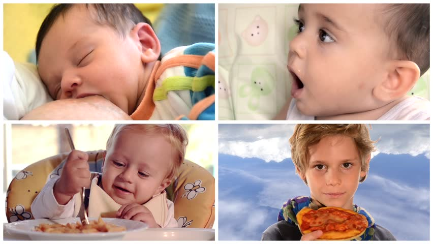 From baby food to solids, collage | Shutterstock HD Video #5611001