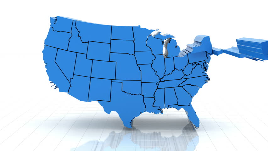 united states map 3d 3d Animation Of Usa Map Stock Footage Video 100 Royalty Free