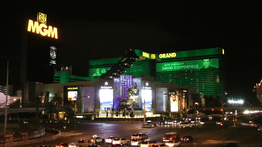 LAS VEGAS - CIRCA 2014: MGM Grand Hotel, The MGM Grand has one of the largest gaming floors in all of Las Vegas, measuring 171,500 square feet (15,930 m2). Circa 2014 in Las Vegas, Nevada.