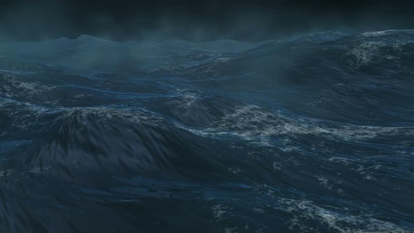 4K Giant ocean, sea storm, Loopable version. High quality rendering with high color depth and motion blur. | Shutterstock HD Video #5634071