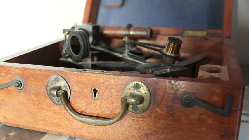 A sextant inside a box an instrument use to measure two angles   Shutterstock HD Video #5644544