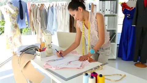 Time Lapse Of A Fashion Designer Stock Footage Video 100 Royalty Free 23430175 Shutterstock