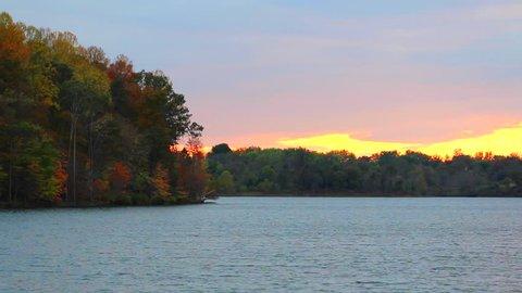 Fall Sunset Landscape