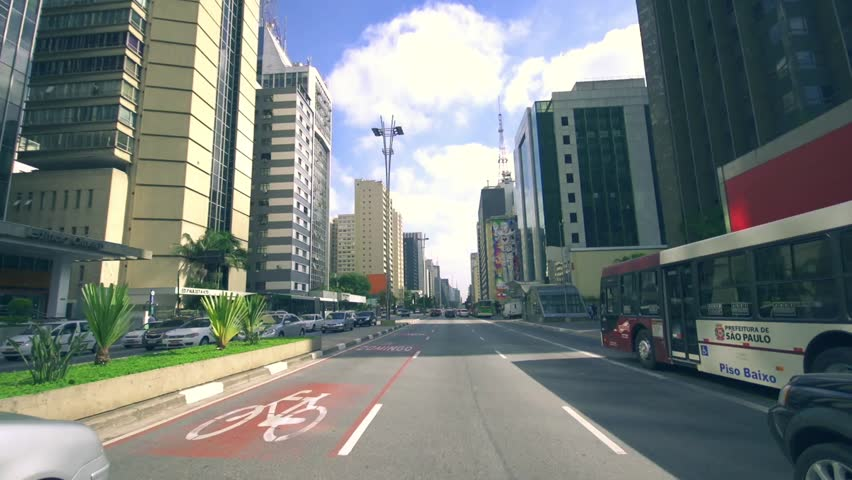 Commuter traffic day   sao paulo brazil pov driving  | Shutterstock HD Video #5670785