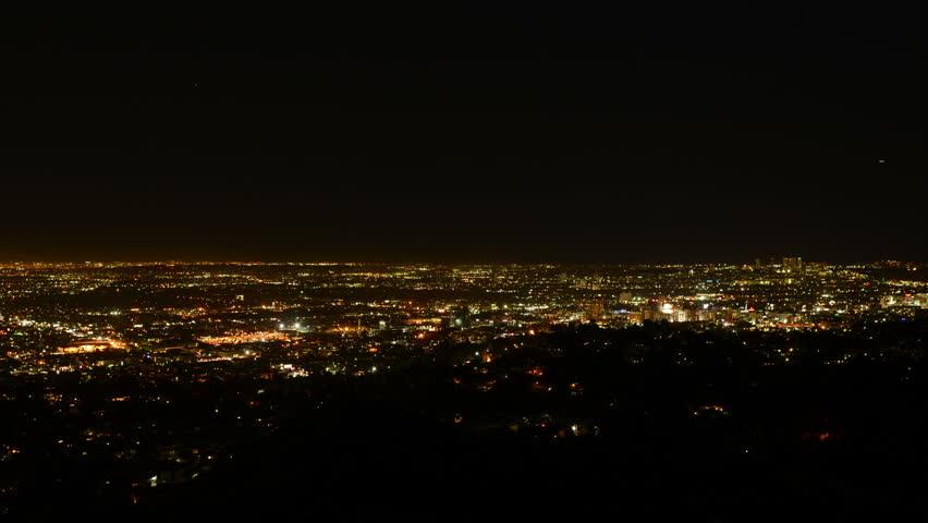 Los Angeles Night View 34 Timelapse Traffic | Shutterstock HD Video #5702942