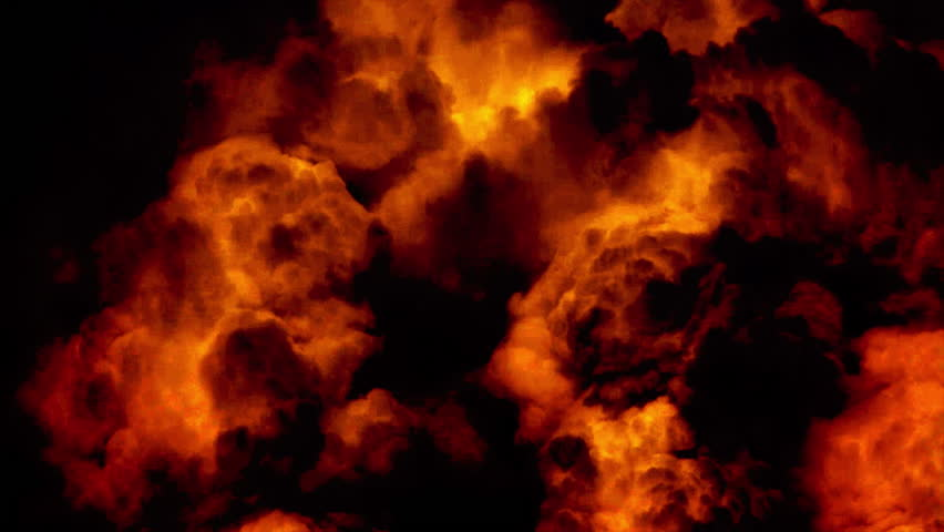 Huge night fire on a gas or oil well or broken petrol pipe. Clouds of fire with black smoke at night. The hell flame of the Gehenna, empire of fire. | Shutterstock HD Video #5704937