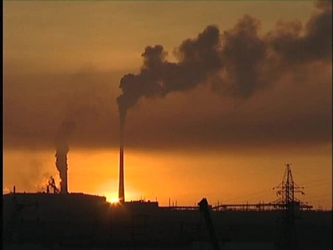 industrial sunset