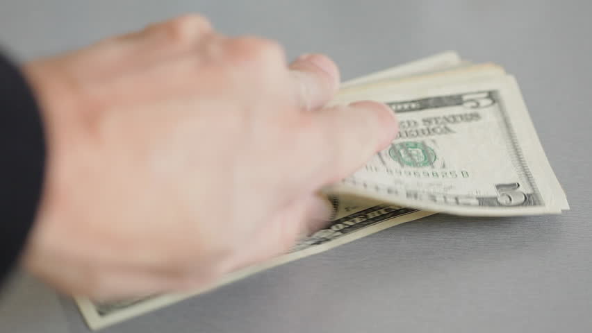 HD 1080: hands counting american dollar bills;  | Shutterstock HD Video #5715233