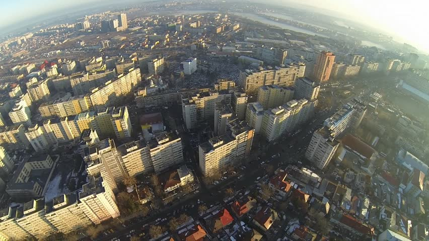 Aerial view of Bucharest, Romania, shot from a drone #5720525
