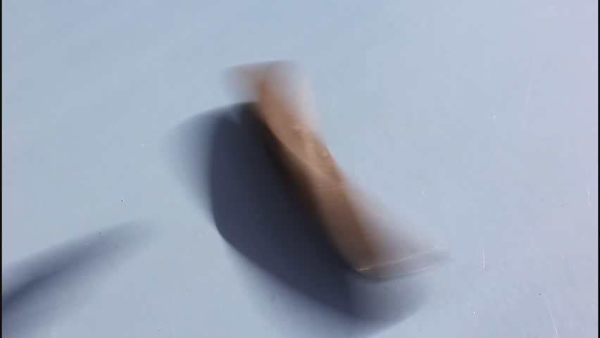 Celtic stone Backspin rattleback - an interesting phenomenon.