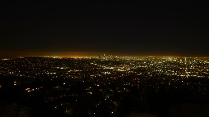 Los Angeles Night View 56 Timelapse Traffic | Shutterstock HD Video #5780648