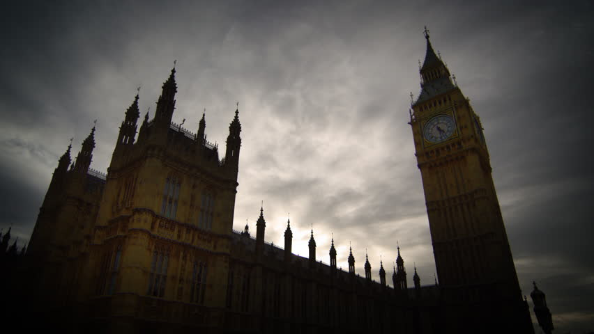 Time-lapse of clouds over Westminster and Big Ben   Shutterstock HD Video #5784767