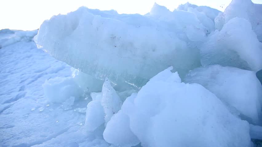 Utah Lake frozen ice tight shot 2 | Shutterstock HD Video #5799206