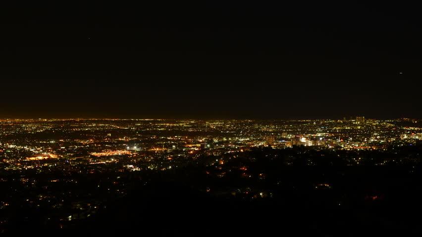 Los Angeles Night View 34 Timelapse Traffic | Shutterstock HD Video #5818274