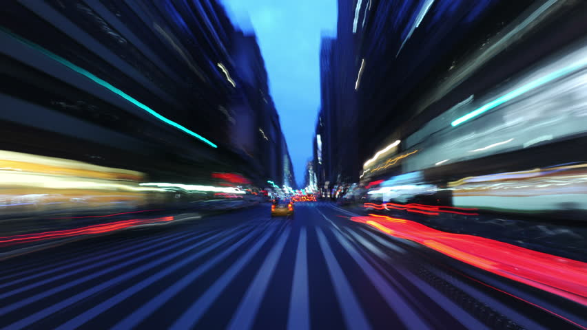 4K... no stop lights! A frenetic blast through the streets of Manhattan: Times Square and a warp-speed trip over Brooklyn Bridge and Manhattan Bridge. ALL faces, logos and license plates obscured. | Shutterstock HD Video #5835986