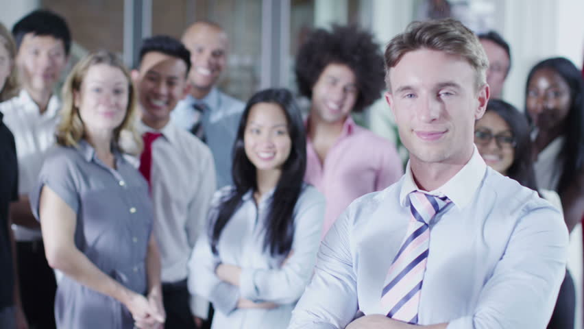 Portrait of attractive mixed ethnicity business team. | Shutterstock HD Video #5853287