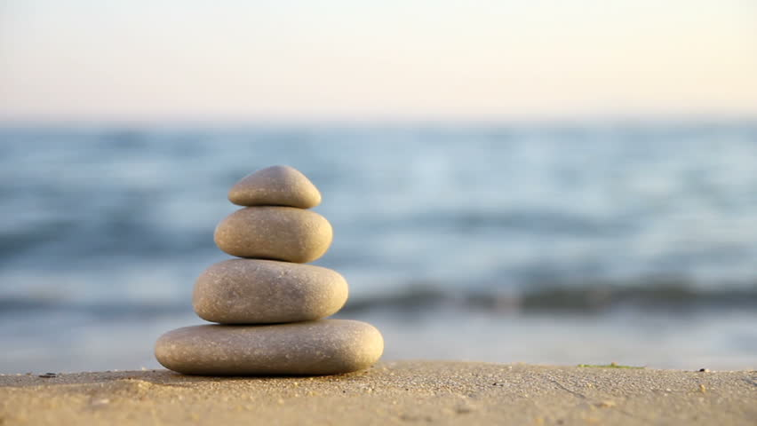 Stacked Zen Stones Stock Footage Video 100 Royalty Free