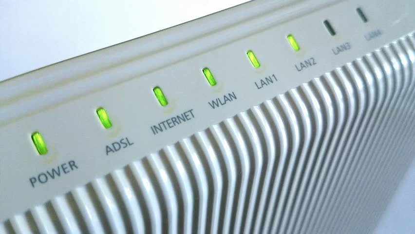 Internet  ADSL router blinking  lights high definition footage - ADSL router blinking lights FullHD 1920x1080 resolution footage | Shutterstock HD Video #5928419