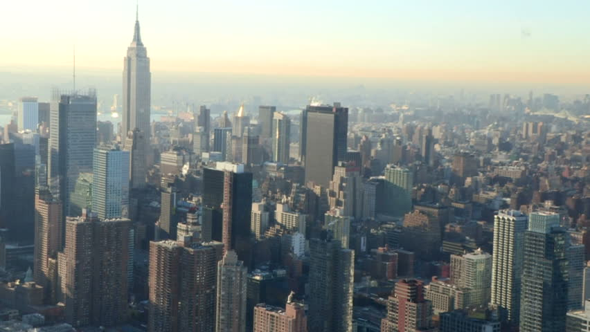 Aerial shot of New York City including Empire State Building | Shutterstock HD Video #5938265