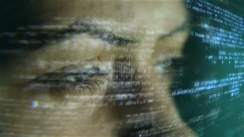 Futuristic developer with code hologram. | Shutterstock HD Video #5941457