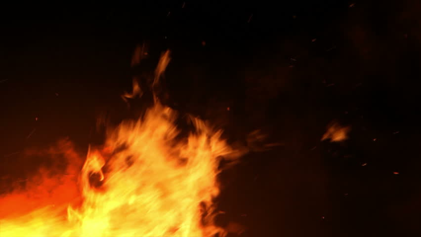 Looping shot of large camp fire.   Shutterstock HD Video #5941484