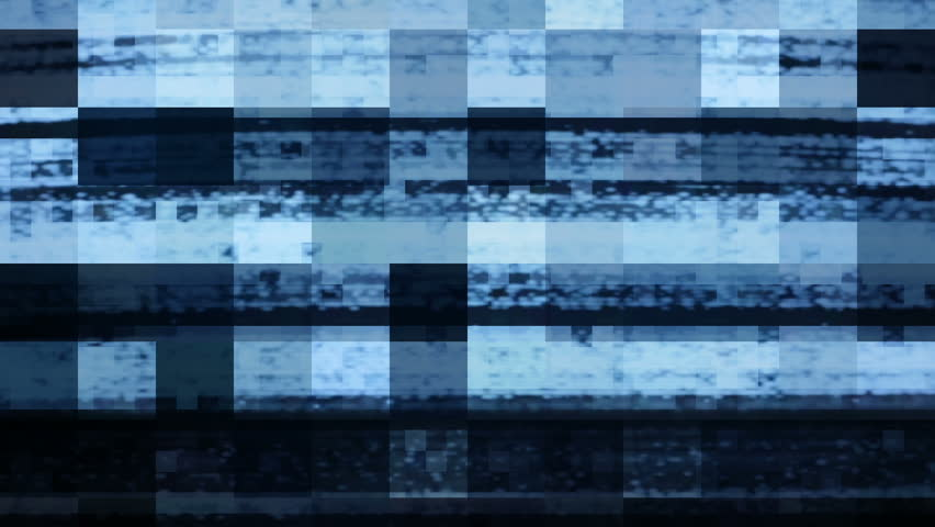 Digital video glitch matte.