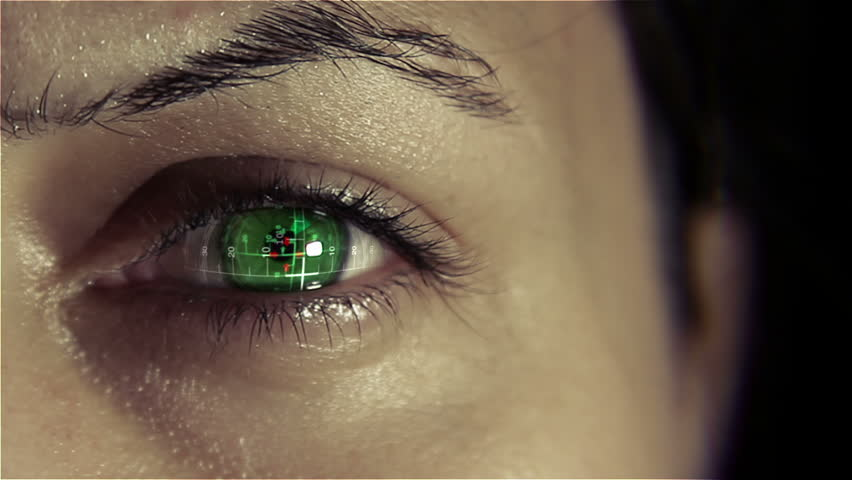 Bionic eye implant with heads up display | Shutterstock HD Video #5945618