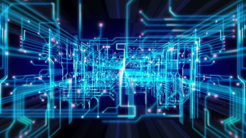 Abstract technological background, seamless loopable.   Shutterstock HD Video #5980619