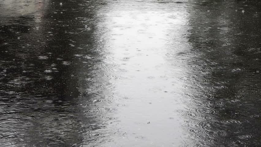 Heavy Rain On The Street Stock Footage Video 100 Royalty Free 5991206 Shutterstock