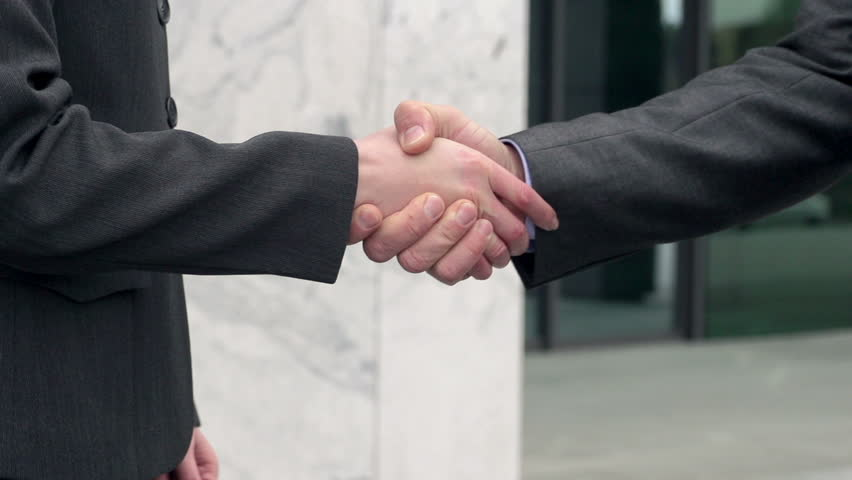 Slow Motion Close Up Of Perfect Business Couple Handshake. | Shutterstock HD Video #6021347