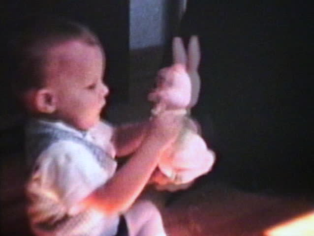 Baby Cuddled By His Mom (1962 - Vintage 8mm Film) - Fusion