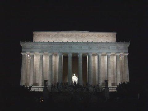 Medium Lincoln Memorial at night in Washington, DC